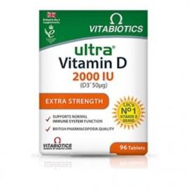 Vitabiotics Ultra Vitamin D 2000IU, Καλή Υγεία Οστών, Μυών & Ανοσοποιητικού, 96Tabs