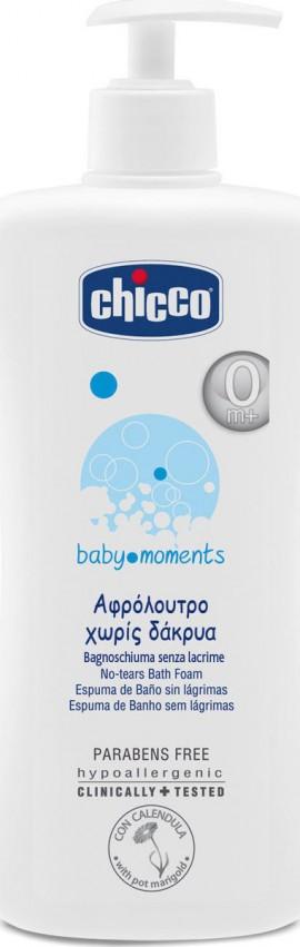 Chicco Baby Moments, Αφρόλουτρο Χωρίς Δάκρυα 0m+ 750ml