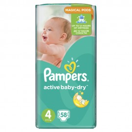 Pampers Active Baby Dry No4 Jumbo (8-14kg) 58Τμχ