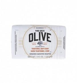 Korres Olive, Πράσινο Σαπούνι με Κέδρο 125gr