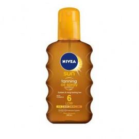 Nivea Sun Tanning Oil Spray SPF 6 Αντηλιακό Λάδι Σώματος 200ml