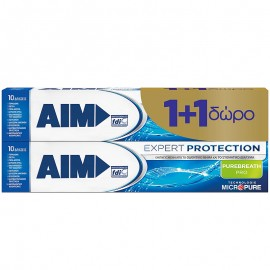 AIM Expert Protection Purebreath Pro Οδοντόκρεμα 75ml 1+1 Δώρο