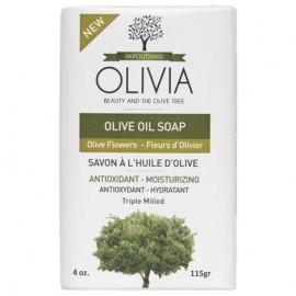 Olivia Olive Oil B/S Olive Flowers, Σαπούνι Ελαιόλαδου με Έλαιο Λουλουδιών 115gr