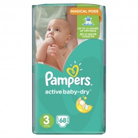 Pampers Active Baby Dry No3 Jumbo (5-9Kg) 68Τμχ