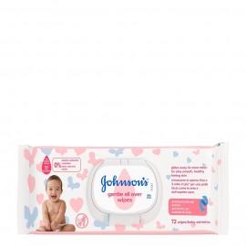 Johnsons Baby Wipes Gentle All Over, Μωρομάντηλα 72τμχ