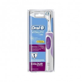 Oral-B Vitality Cross Action Colour Edition 2D Ηλεκτρική Οδοντόβουρτσα Ροζ 1Τμχ