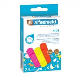 Alfashield Kids Strips Επιθέματα Μικροτραυμάτων 24τμχ