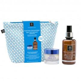 Apivita Promo Aqua Vita Cream Κανονικές/Ξηρές 50ml & Cleansing Γαλάκτωμα 3 σε 1 για Πρόσωπο & Μάτια 200ml