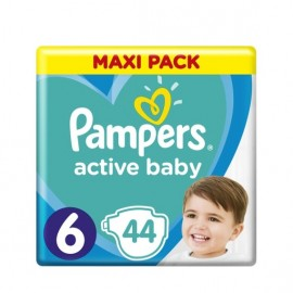 Pampers Active Baby Dry Maxi Pack No6 (13-18kg) 44 Τμχ
