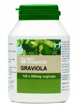 Rio Amazon Graviola 500mg ,Συμπλήρωμα Διατροφής με Εκχυλίσματα Φρούτων Graviola 120Caps