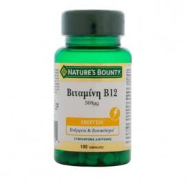 Nature's Bounty Βιταμίνη Β12 500μg, 100 Ταμπλέτες