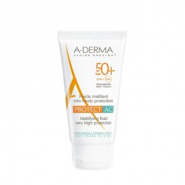 A-Derma Protect AC Fluide Matifiant Visage SPF50+, Αντηλιακή με Ματ Αποτέλεσμα, 40ml