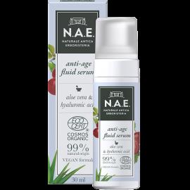 N.A.E Αντιγηραντικός ορός προσώπου εμπλουτισμένος με Υαλουρονικό οξύ, Οργανική Πιστοποίηση COSMOS  & Vegan φόρμουλα, 30ml