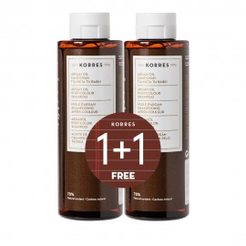 Korres Promo Argan Oil Σαμπουάν Για Μετά Τη Βαφή  1+1 Δωρο 250 ml
