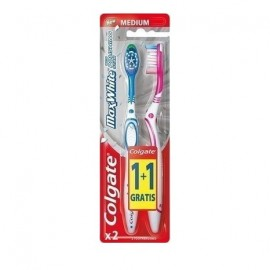 Colgate Max White Οδοντόβουρτσα Μέτρια 1+1 ΔΩΡΟ 2Τμχ