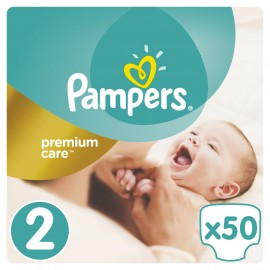 Pampers Premium Care New Baby No 2 (3-6Kg) 50Τμχ