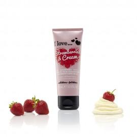 I love Super Soft Hand Cream, Ενυδατική Κρέμα Χεριών Strawberries & Cream 75ml