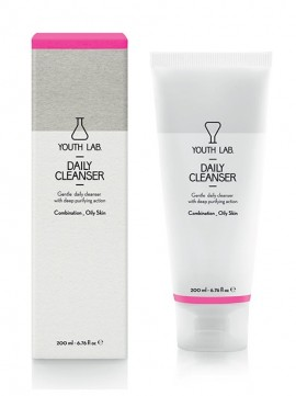 Youth Lab Daily Cleanser Combination Oily Skin, Τζελ Καθαρισμού για Λιπαρές - Μικτές Επιδερμίδες 200ml