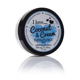 I love Body Butter Ενυδάτωση Σώματος Coconut & Cream 200ml