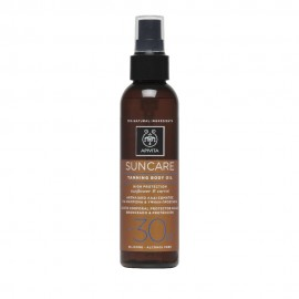 Apivita Suncare Tanning Body Oil SPF30 ,Αντηλιακό Λάδι Σώματος για Μαύρισμα με Ηλίανθο & Καρότο 150ml