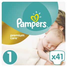 Pampers Premium Care New Baby No.1 (2-5kg) 41Τμχ