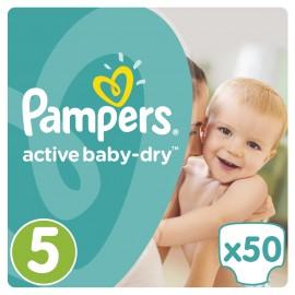 Pampers Πάνες Active Baby-Dry Μέγεθος 5 (Junior) 11-18Kg, 50 Πάνες