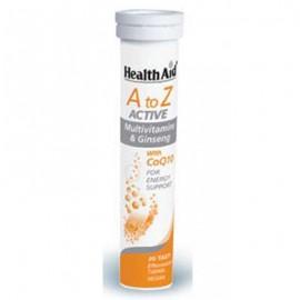 Health Aid A To Z Active Multivitamins & Q10,  με Γεύση Tutti-Frutti, 20 Αναβράζοντα Δισκία