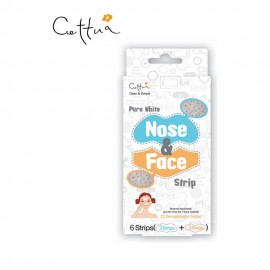 Cettua Pure White Nose & Face Patch, Επιθέματα Αφαίρεσης Λιπαρότητας/Μαύρων Στιγμάτων 12τμχ