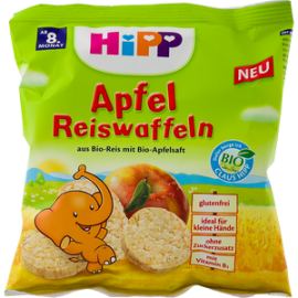 HiPP Παιδικό Ρυζογκοφρετάκι Μήλου, με Προϊόντα Βιολογικής Καλλιέργειας 35gr