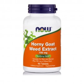 Now Foods Horny Goat Weed Extract 750mg, 90Tablets