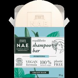 N.A.E. Μπάρα Σαμπουάν για λιπαρά μαλλιά, Οργανική Πιστοποίηση COSMOS  & Vegan φόρμουλα, 85gr