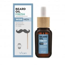 Vican Wise Men Beard Oil Fresh, Λαδάκι για τη Γενειάδα 30ml