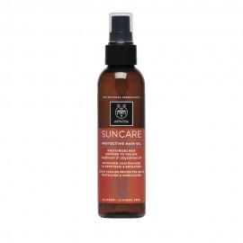 Apivita Suncare Protective Hair Oil, Αντηλιακό Λάδι Μαλλιών με Λάδι Ηλίανθου & Αβυσσινίας 150ml