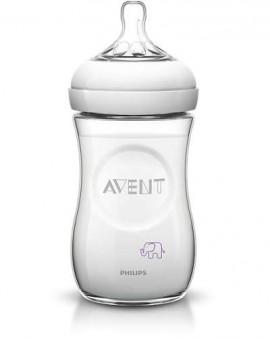 Avent Natural Μπιμπερό 260ml - χωρίς BPA - σχέδιο μώβ