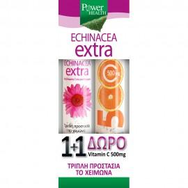Power Health 1+1, Echinacea Extra 24 Αναβρ.Δισκία & ΔΩΡΟ Vitamin C 500mg 20 Αναβρ.Δισκία
