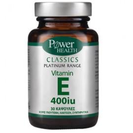 Power Health Classics Platinum Vitamin E 400iu - Για Αναπαραγωγή & Δέρμα 30 Κάψουλες