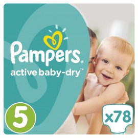 Pampers Active Baby Dry No5 Giant (11-18Kg) 78 τμχ