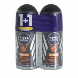 Nivea Deo Stress Protection Male Roll On 50ml 1+1 Δώρο