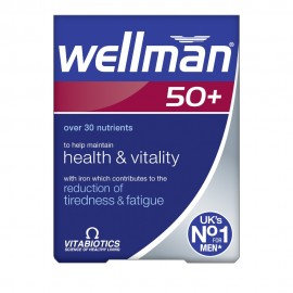 Vitabiotics Wellman 50+ Πολυβιταμινούχο Συμπλήρωμα για Άντρες Άνω των 50, 30Tabs
