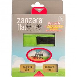 Vican Zanzara Flat, Εντομοαπωθητικό Βραχιόλι & 2 Εντομοαπωθητικές Πλακέτες S/M