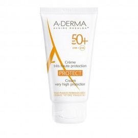 A-Derma Protect Cream SPF50+, Αντηλιακή Προσώπου, 40ml