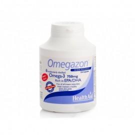 Health Aid Omegazon Ωμέγα 3 - 750 mg, Υγιή Καρδιά, Κυκλοφορικό & Εγκέφαλος Family Pack, 120caps