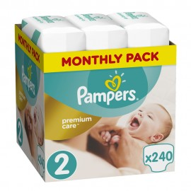 Pampers Monthly Pack Premium Care New Bay No 2 (3-6 kg) 240Τμχ