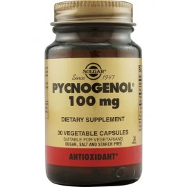 Solgar Pycnogenol 100mg, Συμπλήρωμα Διατροφής με Αντοξειδωτική Δράση 30 Vegetable Caps