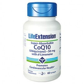 LifeExtension Super-Absorbable CoQ10 with d-Limonene 50mg 60 μαλακές κάψουλες