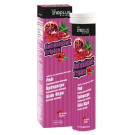 Inoplus Antioxidant Triplex, Συμπλήρωμα Διατροφής με Ρόδι, Κράνμπερι και Αλόη Βέρα, 20 Αναβράζοντα Δισκία