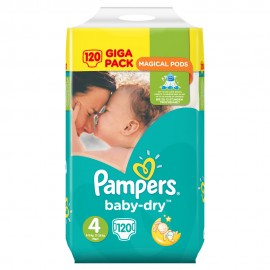 Pampers Baby Dry Magical Pods Maxi Giga-Pack No4 (8-16 κιλά) 120τμχ