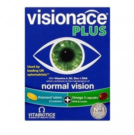 Vitabiotics Visionace Plus Omega 3 ,Συμπλήρωμα Διατήρησης της Καλής Όρασης & Ωμέγα-3 Λιπαρά Οξέα 28Tabs/28Caps