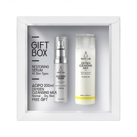 Youth Lab Gift Box Restoring Serum All Skin Types 30ml & ΔΩΡΟ Oxygen Cleansing Milk Normal/Dry Skin 200ml
