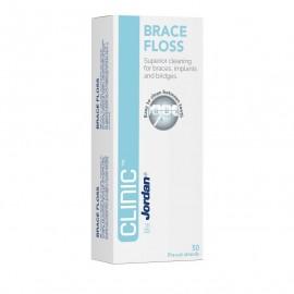 Jordan Clinic Brace Floss Οδοντικό Νήμα 50Τμχ